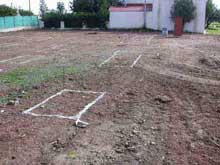Construction work: Ground preparation and footings