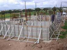 Construction work: Ground beams & floor slab